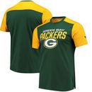 Green Bay Packers NFL Pro Line by Fanatics Branded Iconic Color Blocked T-Shirt - Green/Gold