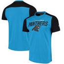 Carolina Panthers NFL Pro Line by Fanatics Branded Iconic Color Blocked T-Shirt - Blue/Black