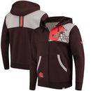 Cleveland Browns NFL Pro Line by Fanatics Branded Iconic Bold Full-Zip Hoodie – Brown/Heathered Gray