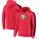 San Francisco 49ers NFL Pro Line by Fanatics Branded Iconic Pullover Hoodie – Scarlet/Black