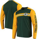 Green Bay Packers NFL Pro Line by Fanatics Branded Iconic Long Sleeve T-Shirt – Green/Gold