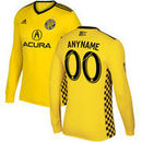 Columbus Crew SC adidas 2017 Primary Authentic Custom Long Sleeve Jersey - Yellow