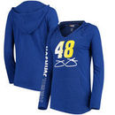 Jimmie Johnson Concepts Sport Sweep Hooded T-Shirt - Royal