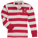 Alabama Crimson Tide Wes & Willy Youth Long Sleeve Rugby Polo Shirt - Crimson