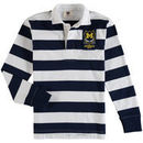 Michigan Wolverines Wes & Willy Youth Long Sleeve Rugby Polo Shirt - Navy