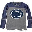 Penn State Nittany Lions Wes & Willy Girls Preschool Slub Blend Long Sleeve Jersey T-Shirt - Heathered Navy