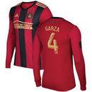 Greg Garza Atlanta United FC adidas Long Sleeve 2016 Authentic Primary Jersey - Red
