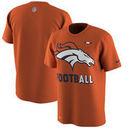 Denver Broncos Nike Sideline Legend Football Performance T-Shirt - Orange