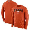 Chicago Bears Nike Sideline Legend Staff Performance Long Sleeve T-Shirt - Orange