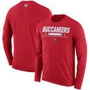Tampa Bay Buccaneers Nike Sideline Legend Staff Performance Long Sleeve T-Shirt - Red