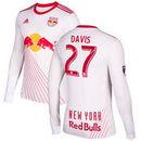 Sean Davis New York Red Bulls adidas 2017 Primary Authentic Long Sleeve Jersey - White