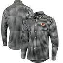 Cincinnati Bengals Antigua National Woven Long Sleeve Button-Down Shirt - Black/White