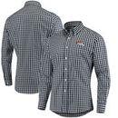 Denver Broncos Antigua National Woven Long Sleeve Button-Down Shirt - Navy/White