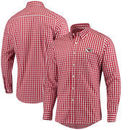 Kansas City Chiefs Antigua National Woven Long Sleeve Button-Down Shirt - Red/White