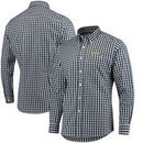 Los Angeles Chargers Antigua National Woven Long Sleeve Button-Down Shirt - Navy/White