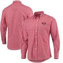 San Francisco 49ers Antigua National Woven Long Sleeve Button-Down Shirt - Scarlet/White
