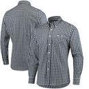 Seattle Seahawks Antigua National Woven Long Sleeve Button-Down Shirt - Navy/White