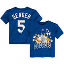 Corey Seager Los Angeles Dodgers Majestic Toddler Snack Attack Name & Number T-Shirt - Royal