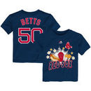 Mookie Betts Boston Red Sox Majestic Toddler Snack Attack Name & Number T-Shirt - Navy