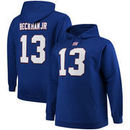 Odell Beckham Jr New York Giants Majestic Big & Tall Name & Number Pullover Hoodie - Royal