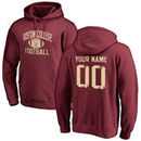 Boston College Eagles Fanatics Branded Distressed Personalized Football Pullover Hoodie - Maroon