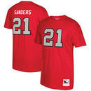 Deion Sanders Atlanta Falcons Mitchell & Ness Retired Player Name & Number T-Shirt - Red