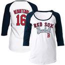 Andrew Benintendi Boston Red Sox 5th & Ocean by New Era Women's Glitter 3/4-Sleeve Raglan T-Shirt - White/Navy