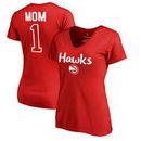 Atlanta Hawks Fanatics Branded Women's Number 1 Mom T-Shirt - Red