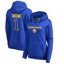 Golden State Warriors Fanatics Branded Women's Plus Sizes Number 1 Mom Pullover Hoodie - Royal