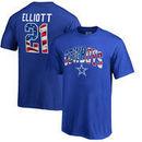 Ezekiel Elliott Dallas Cowboys NFL Pro Line by Fanatics Branded Youth Banner Wave Player Name & Number T-Shirt - Royal