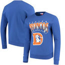Denver Broncos Mitchell & Ness Rushing Line Pullover Sweatshirt - Royal