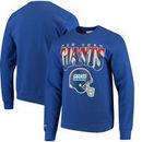 New York Giants Mitchell & Ness Rushing Line Pullover Sweatshirt - Royal