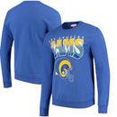 Los Angeles Rams Mitchell & Ness Rushing Line Pullover Sweatshirt - Royal