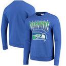 Seattle Seahawks Mitchell & Ness Rushing Line Pullover Sweatshirt - Royal