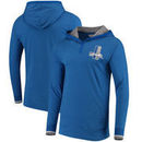 Detroit Lions Mitchell & Ness Seal the Win Hooded Long Sleeve T-Shirt – Heathered Blue
