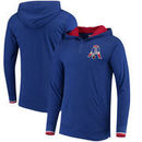 New England Patriots Mitchell & Ness Seal the Win Hooded Long Sleeve T-Shirt – Heathered Royal