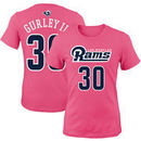 Todd Gurley Los Angeles Rams Girls Youth Mainliner Player Name & Number T-Shirt - Pink