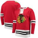 Chicago Blackhawks Fanatics Branded Breakaway Lace Up Pullover Sweatshirt - Red