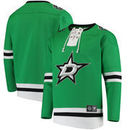 Dallas Stars Fanatics Branded Breakaway Lace Up Pullover Sweatshirt - Kelly Green