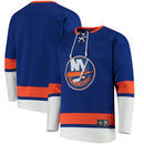 New York Islanders Fanatics Branded Breakaway Lace Up Pullover Sweatshirt - Royal