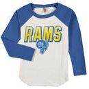 Los Angeles Rams Junk Food Youth Raglan Long Sleeve T-Shirt - White