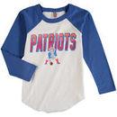 New England Patriots Junk Food Youth Raglan Long Sleeve T-Shirt - White