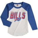 Buffalo Bills Junk Food Youth Raglan Long Sleeve T-Shirt - White