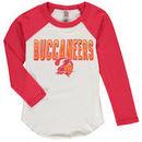 Tampa Bay Buccaneers Junk Food Youth Raglan Long Sleeve T-Shirt - White