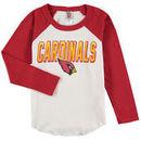 Arizona Cardinals Junk Food Youth Raglan Long Sleeve T-Shirt - White