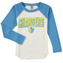 Los Angeles Chargers Junk Food Youth Raglan Long Sleeve T-Shirt - White