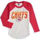 Kansas City Chiefs Junk Food Youth Raglan Long Sleeve T-Shirt - White
