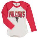 Atlanta Falcons Junk Food Youth Raglan Long Sleeve T-Shirt - White