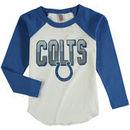 Indianapolis Colts Junk Food Youth Raglan Long Sleeve T-Shirt - White
