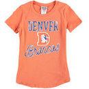 Denver Broncos Junk Food Girls Youth Script T-Shirt - Orange